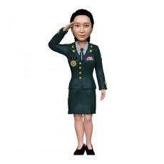 군인/여군/정복/지휘관