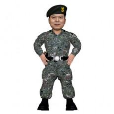 군인/전역선물/허리손 자세