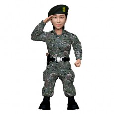 군인/여군/육군/경례자세