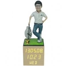 골프/LW002/나무led시계받침/스탠딩